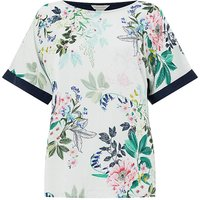 Monsoon Willow Print Short Sleeve Top