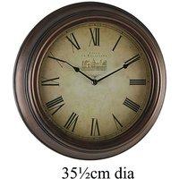 Antique Style Bronze Wall Clock