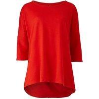 Red Wrap Back Top