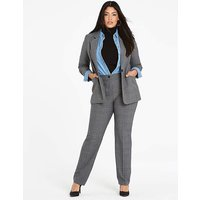 Check Tapered Leg Trousers
