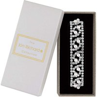Image of Jon Richard Diamante Wide Bracelet