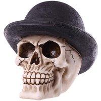 Funky Bowler Hat Skull Ornament