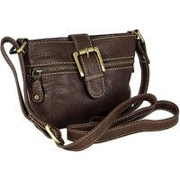 Blousey Brown Leather Crossbody