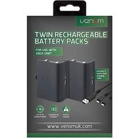 Xbox One Twin Batteries Pack Black.