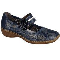 Rieker Date Flower Trim Mary Jane Shoes