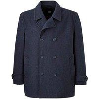 Charcoal Pea Wool Rich Coat.
