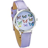 Ladies Butterfly Watch & Scarf Set