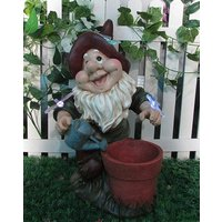 Solar Gnome with planter