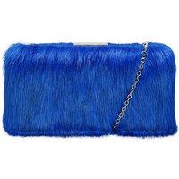 Claudia Canova Faux Fur Clutch Bag &
