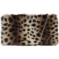 Claudia Canova Faux Fur Clutch Bag &