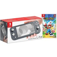 Switch Lite Grey with Mario and Rabbids.