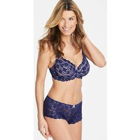 Daisy Lace Full Cup Wired Navy/Rose Bra