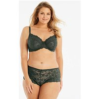 Daisy Lace Full Cup Wired Khaki Bra