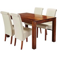Java Acacia Dining Table with 4 Chairs.