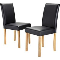 Mia Faux Leather Pair of Dining Chairs.