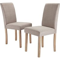 Mia Fabric Pair of Dining Chairs.