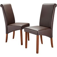 Siena Faux Leather Pair of Dining Chairs.