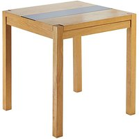 Fashion World Oakham Glass Panel Square Dining Table