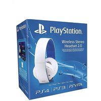 PS4 White Wireless Stereo Headset 2.0
