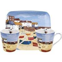 Pimpernel St Ives Mug & Tray Set