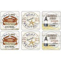 Pimpernel Coastal Signs Coasters