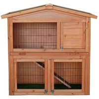 '2-tier Rabbit Hutch With Built In Run