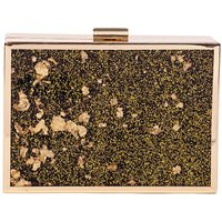 Claudia Canova Gold Flake Clutch & Chain