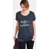 Glitter and Sparkle Slogan Tunic