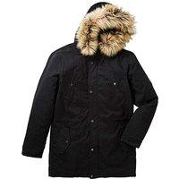 Label J Badged Fur Trim Parka R.