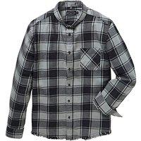 Label J Fray Hem Check Shirt Regular