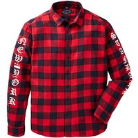 Label J Print Check Shirt Long