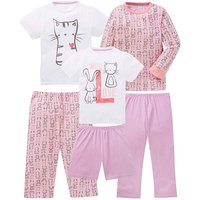 KD Girls Pack of Three Pyjamas