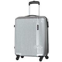 Carlton Small 4 Wheel Suitcase - Silver.