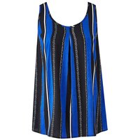 Blue Stripe Petite Printed Vest
