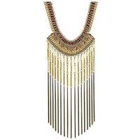 Mood tassel statement necklace