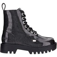 Kickers Lace Up Patent Leather Boots