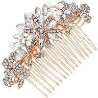 Mood Crystal Floral Hair Comb