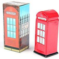 Novelty Telephone Box Ceramic Money Box