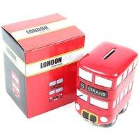 Ceramic Red Routemaster Bus Money Box