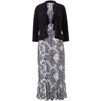 Grey Animal Print Dress and Shrug L45