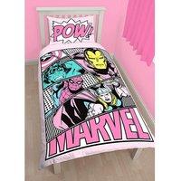 Marvel Girls Panel Duvet