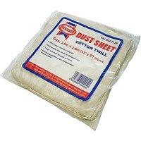 Dust Sheet Cotton Twill 12ft X 9ft