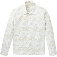WILLIAMS & BROWN Linen Mix Print Shirt