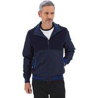Blue Contrast Zip Jacket.