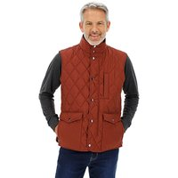 Wine Quilted Padded Gilet.