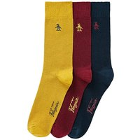 Original Penguin Mustard Pack of 3 Socks