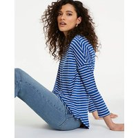Oversized Stripe Tunic Crew Neck.