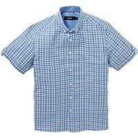 Black Label Short Sleeve Check Shirt L