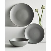 Buxton Grey Stoneware Dinnerset