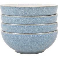 Denby Elements 4 Cereal Bowls Blue